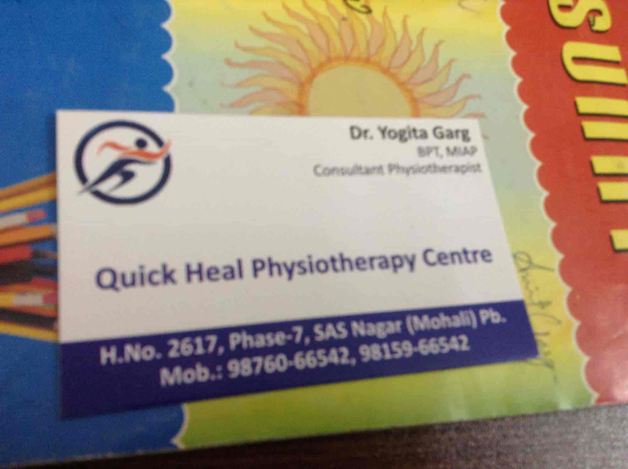 Quick Heal Physiotherapy Center - Physiothes - Book ... on