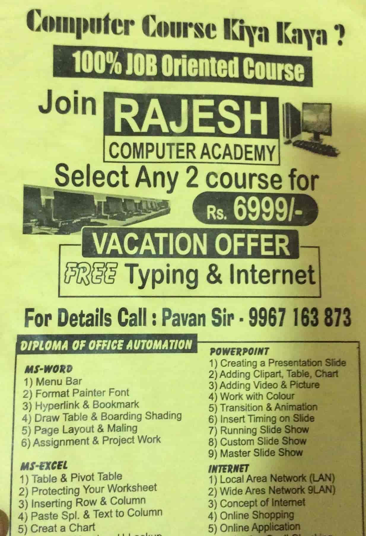 Rajesh Computer Academy, Goregaon West - Computer Training
