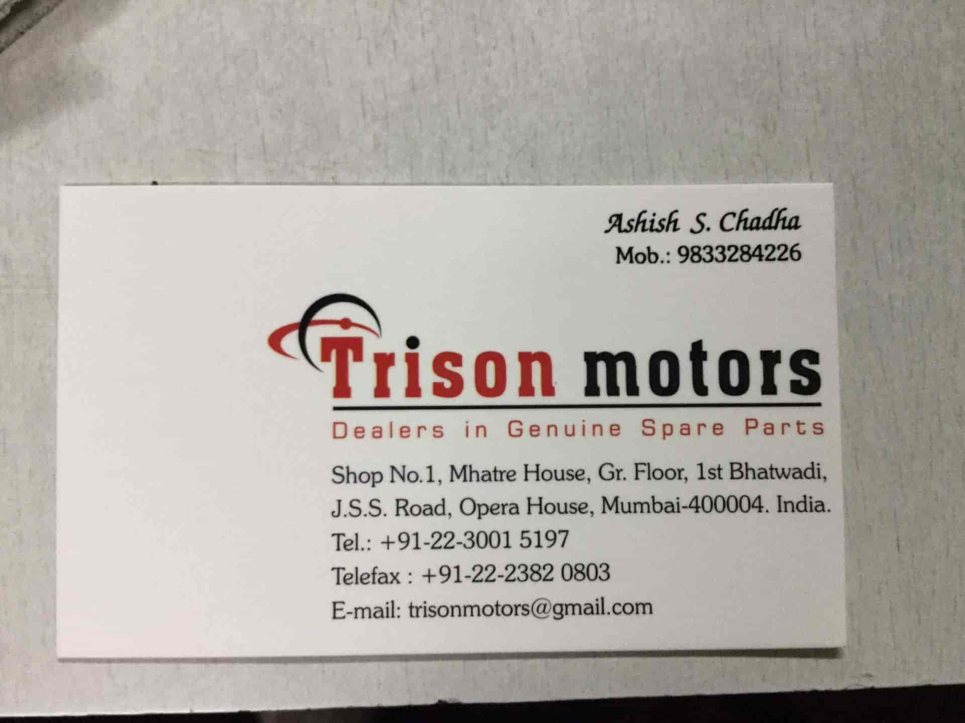 Trison Motors, Opera House - Automobile Part Dealers in