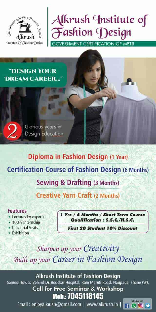 Top 100 Fashion Designing Institutes In Thane West Best Fashion Designing Colleges Thane West Mumbai Justdial