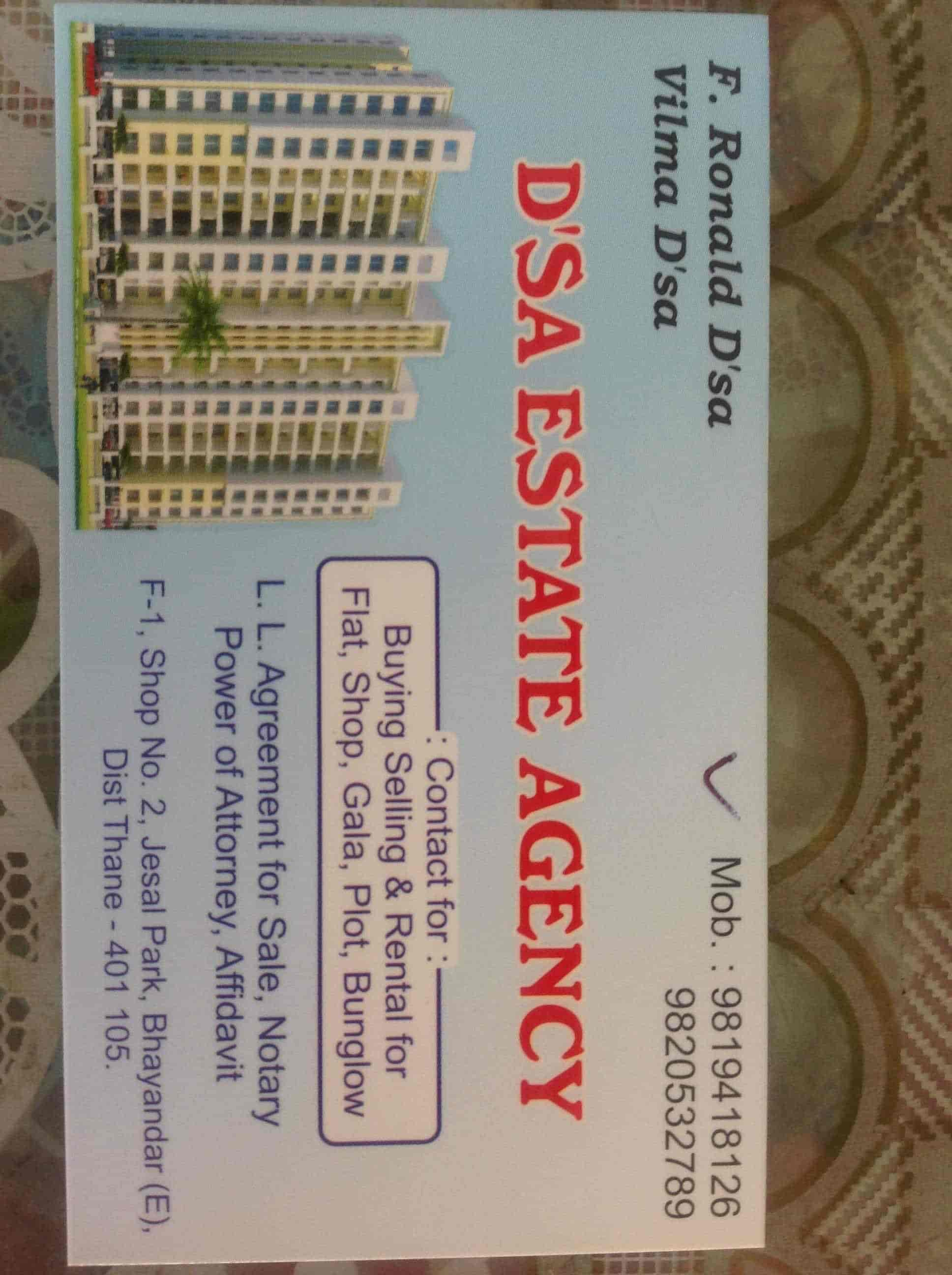 Dsa Estate Agency Bhayandar East Estate Agents For Residential