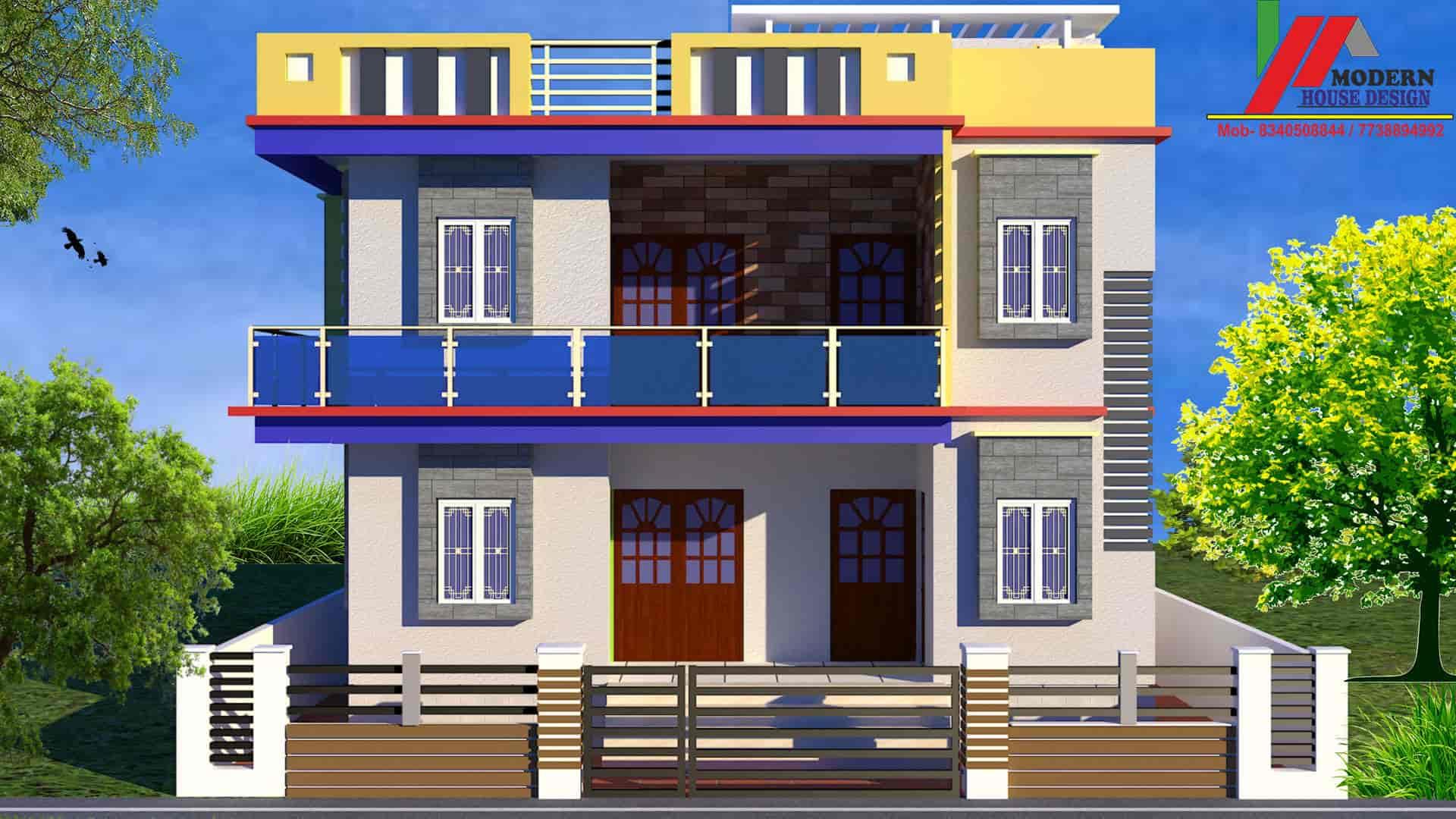 Modern House Design Durga Sthan Manddir Architects In
