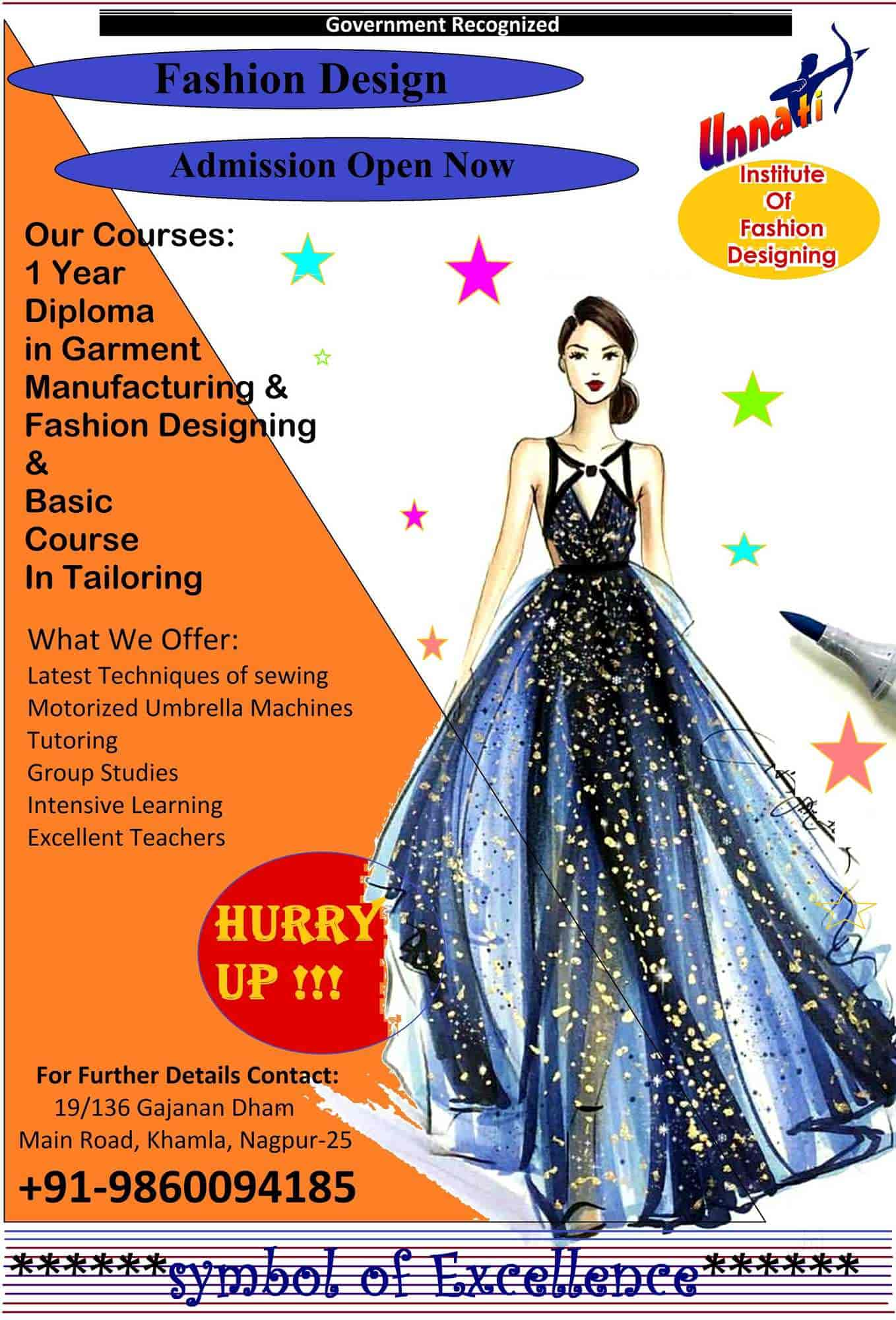 Unnati Institute Of Fashion Designing Khamla Institutes In Nagpur Justdial