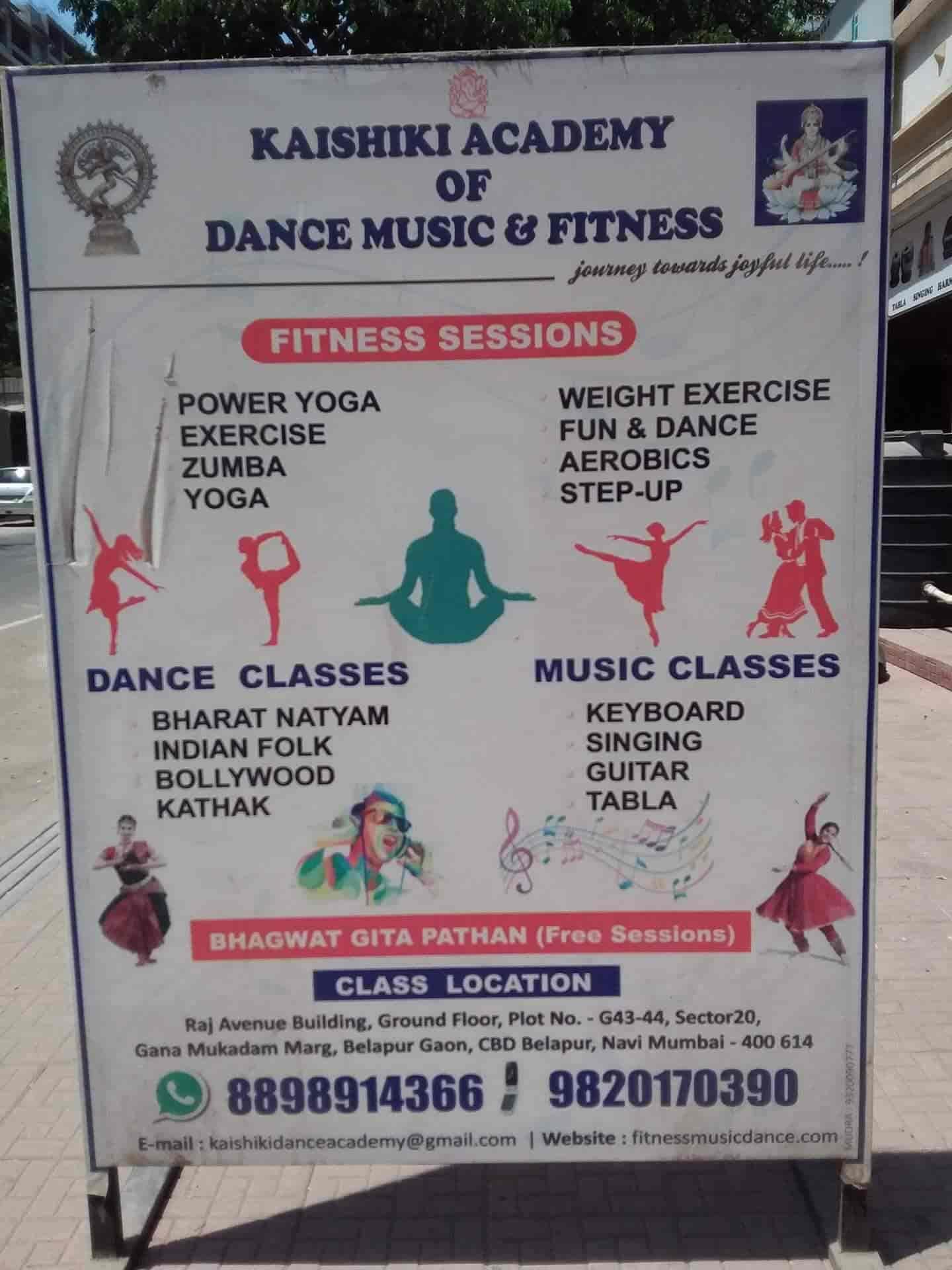 Kaishiki Academy Of Dance Music & Fitness, Cbd Belapur