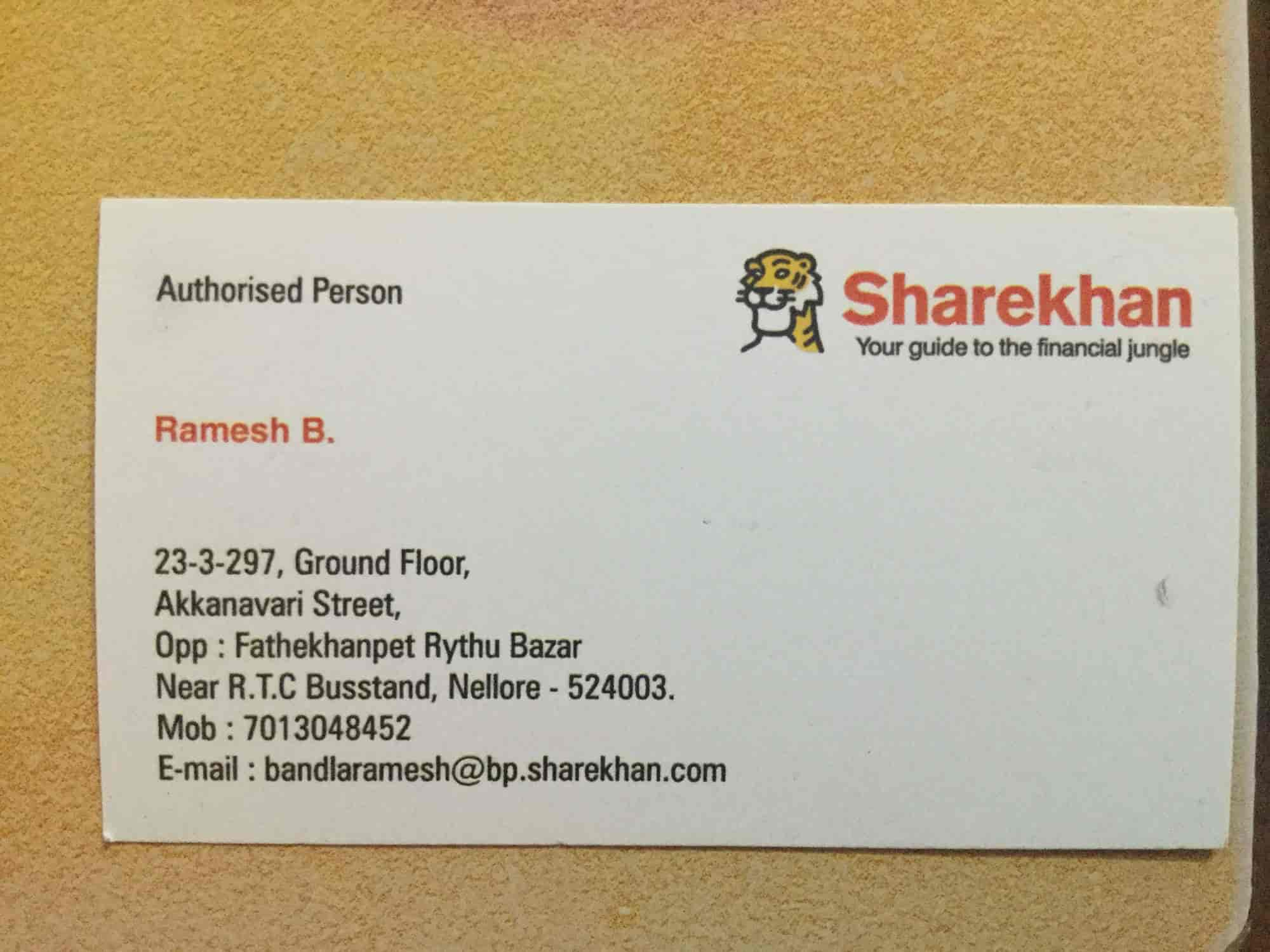 Sharekhan, Fathekhanpet - Stock Brokers in Nellore - Justdial