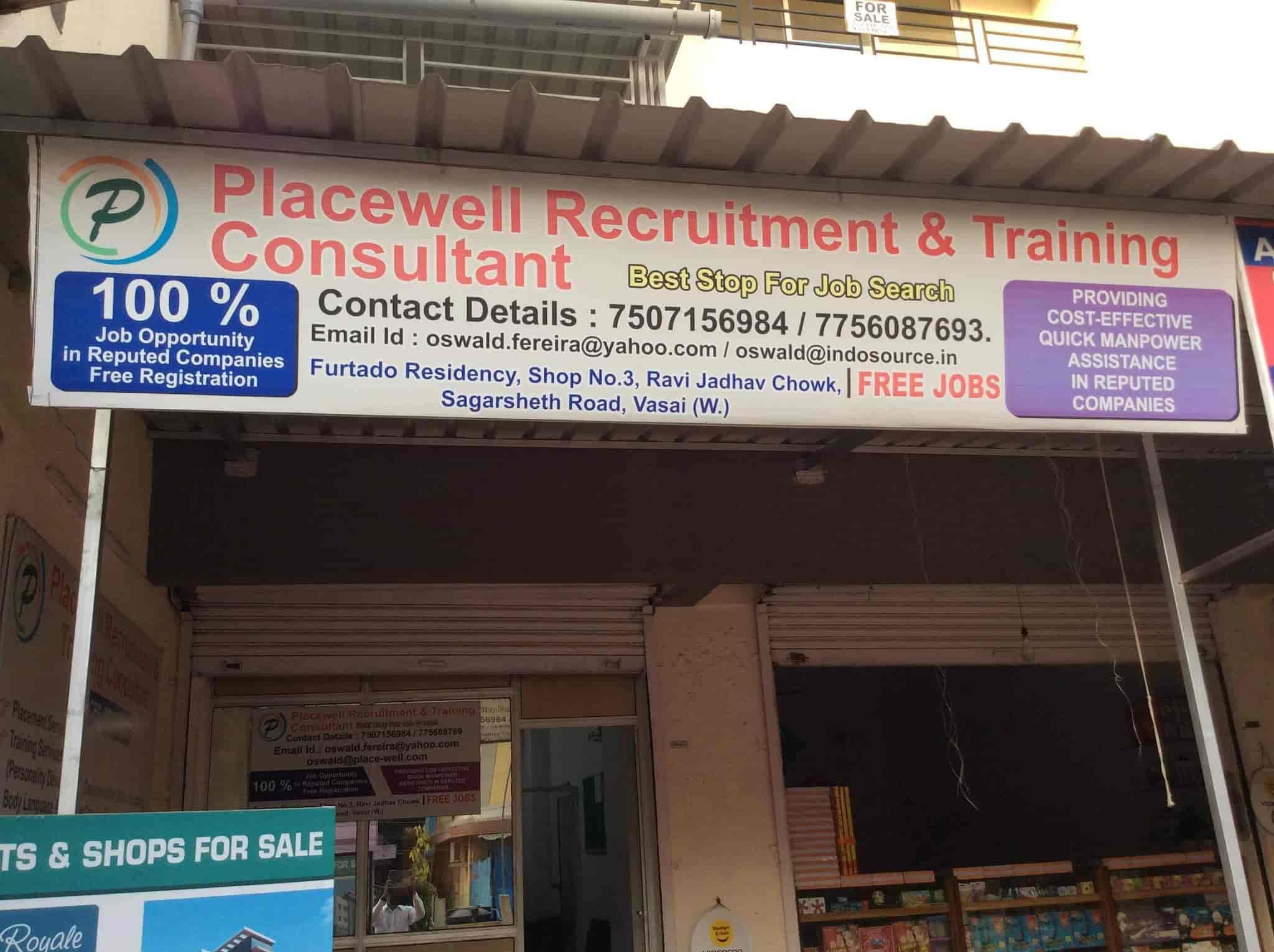 Placewell Recruitment Training Consultant, Vasai Road West