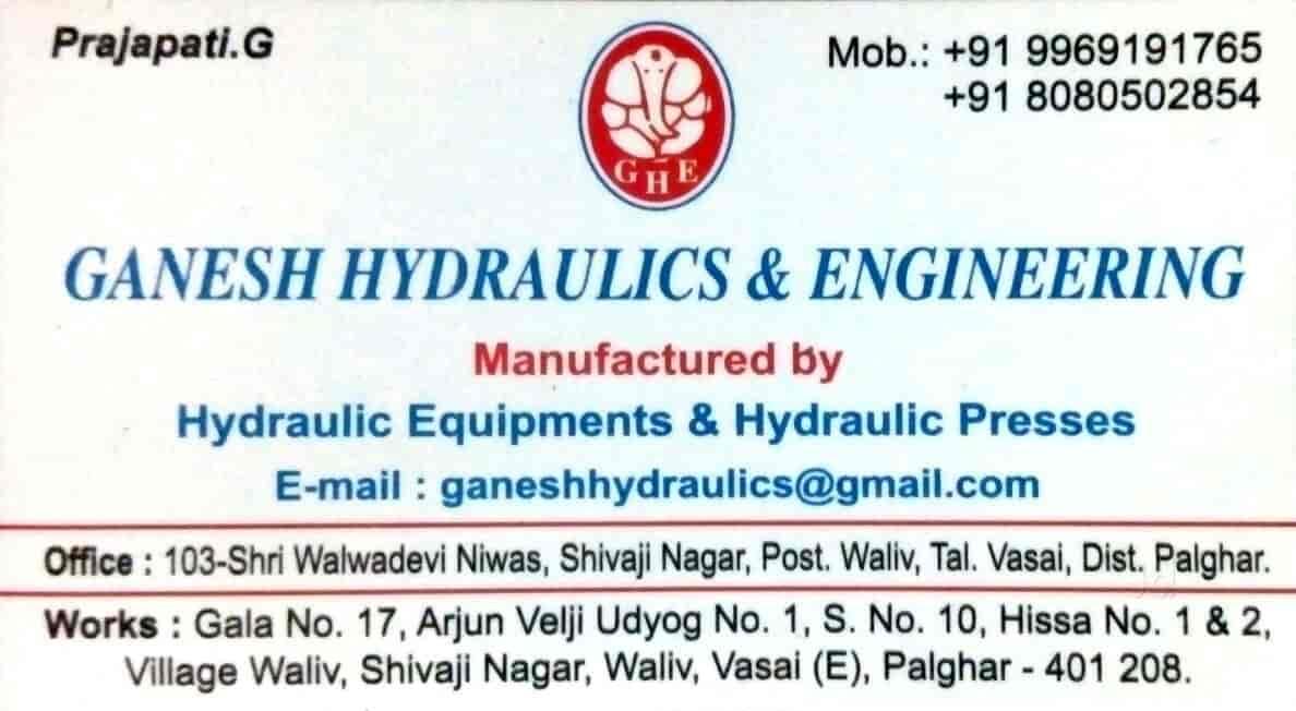 Ganesh Hydraulics & Engineering, Vasai East - Hydraulic