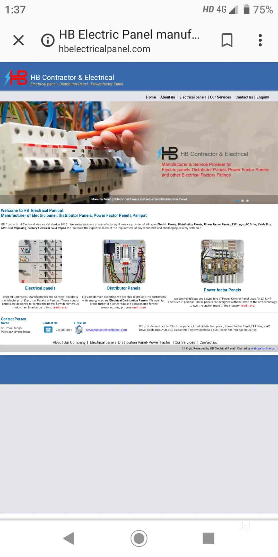 Hb Contractor, Panipat HO - Electrical Contractors in