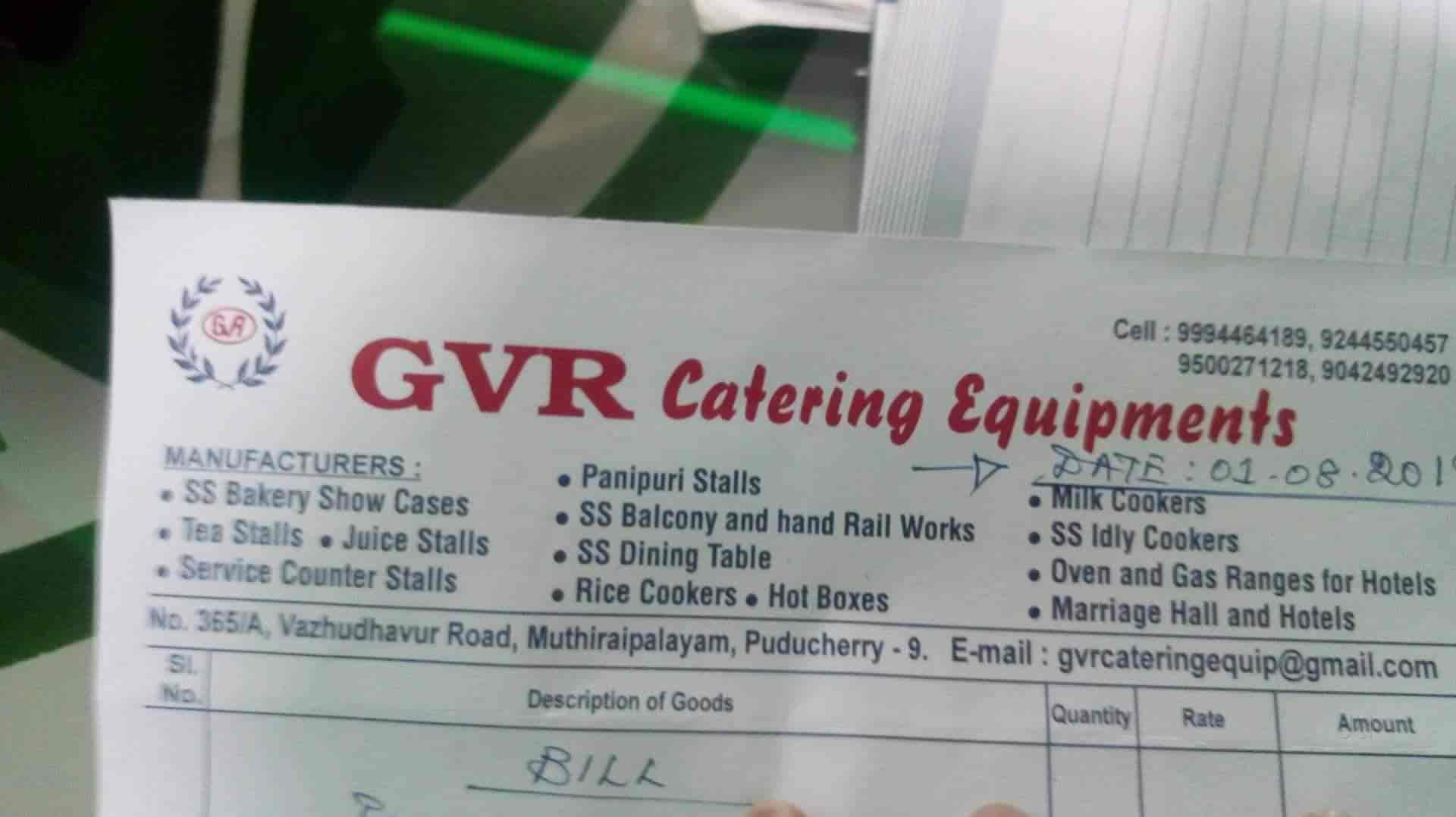 Gvr Catering Equipments, Muthirayarpalayam - Caterers in