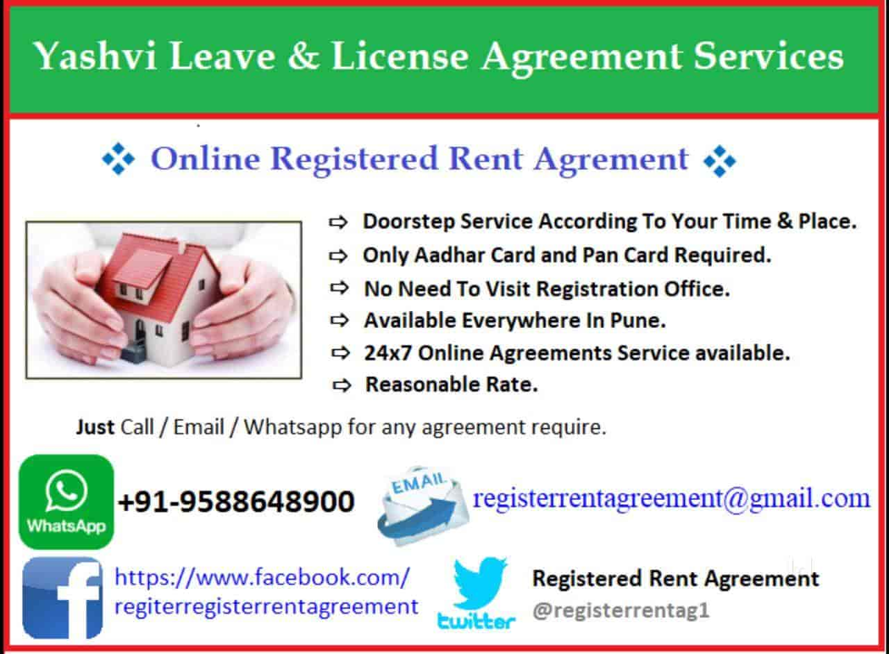 Yashvi Leave And License Agreement Services Thergaon Registration