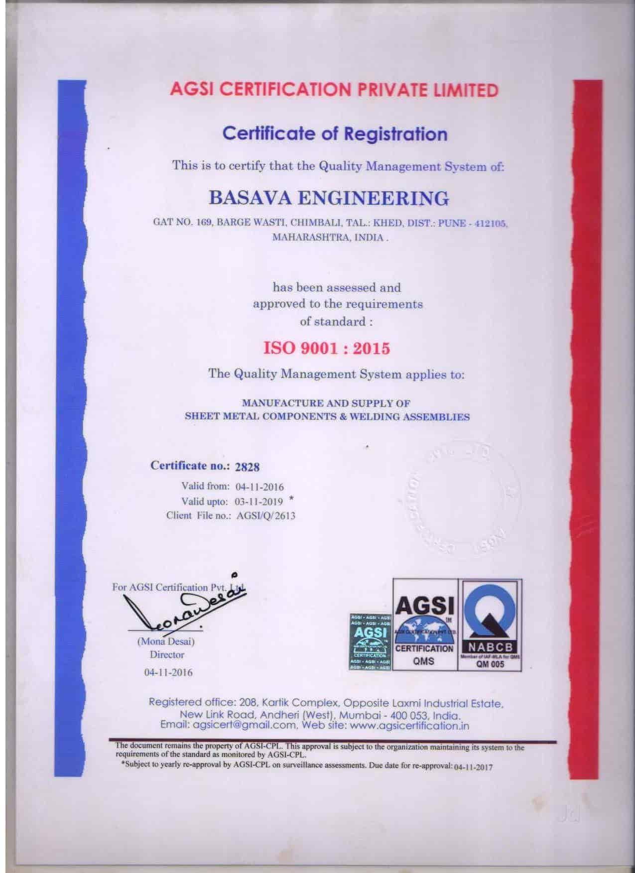 Basava Engineering, Chimbli - Automobile Part Manufacturers