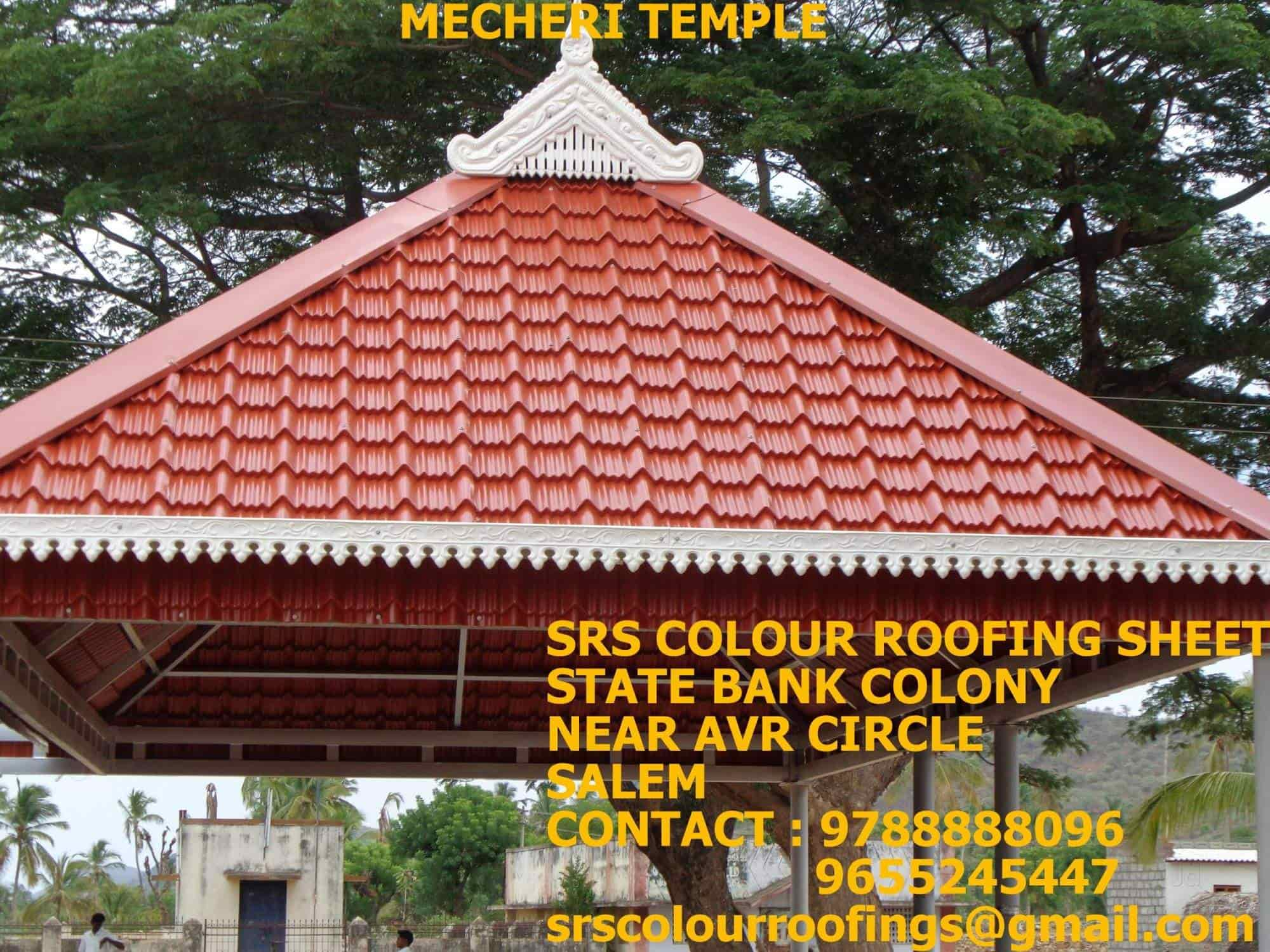 ... Completed Roof Shade   Srs Colour Roofing Sheet Images, ,  Ramanathapuram   Roofing Sheet Manufacturers ...
