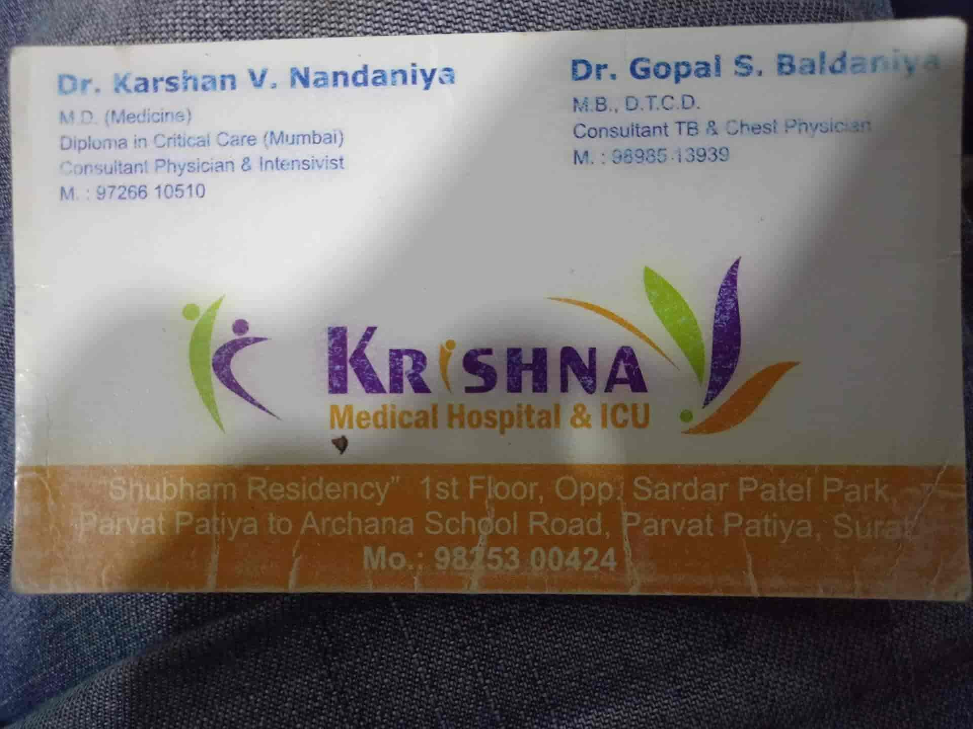 Dr  Karsan V Nandaniya (Krishna Medical Hospital), Parvat