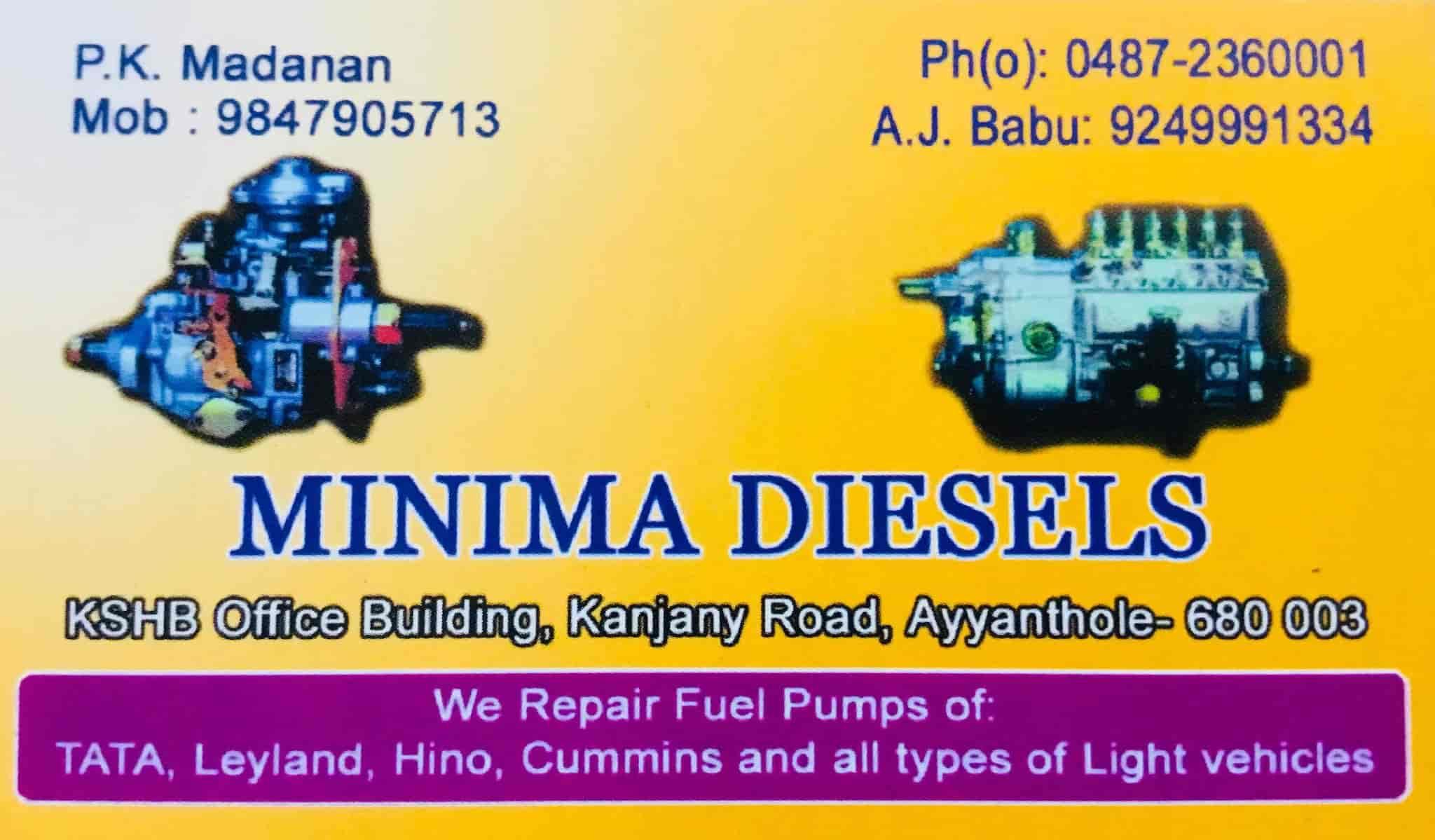 Minima Diesels, Ayyanthole - Diesel Engine Repair & Services