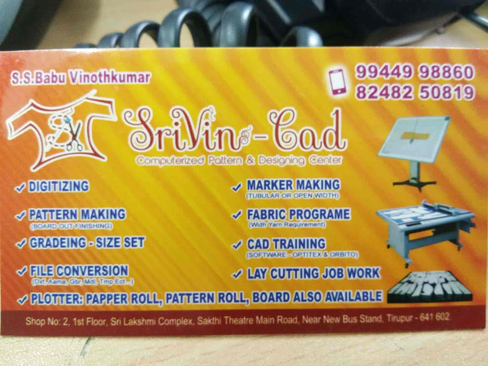 Srivin CAD Centre, Pn Road - Pattern Manufacturers in