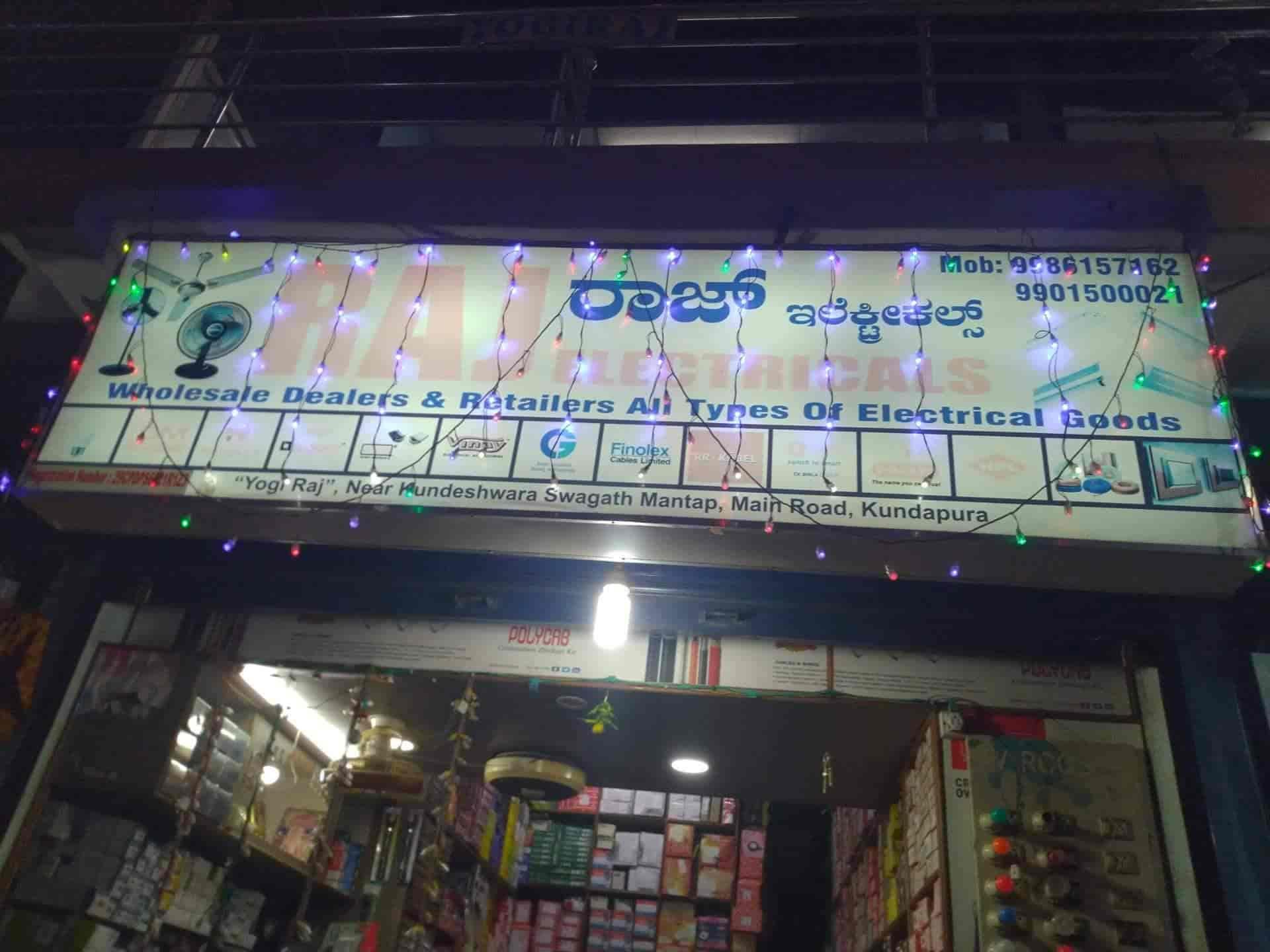 Raj Electricals, Kundapura West - Electrical Shops in Udupi