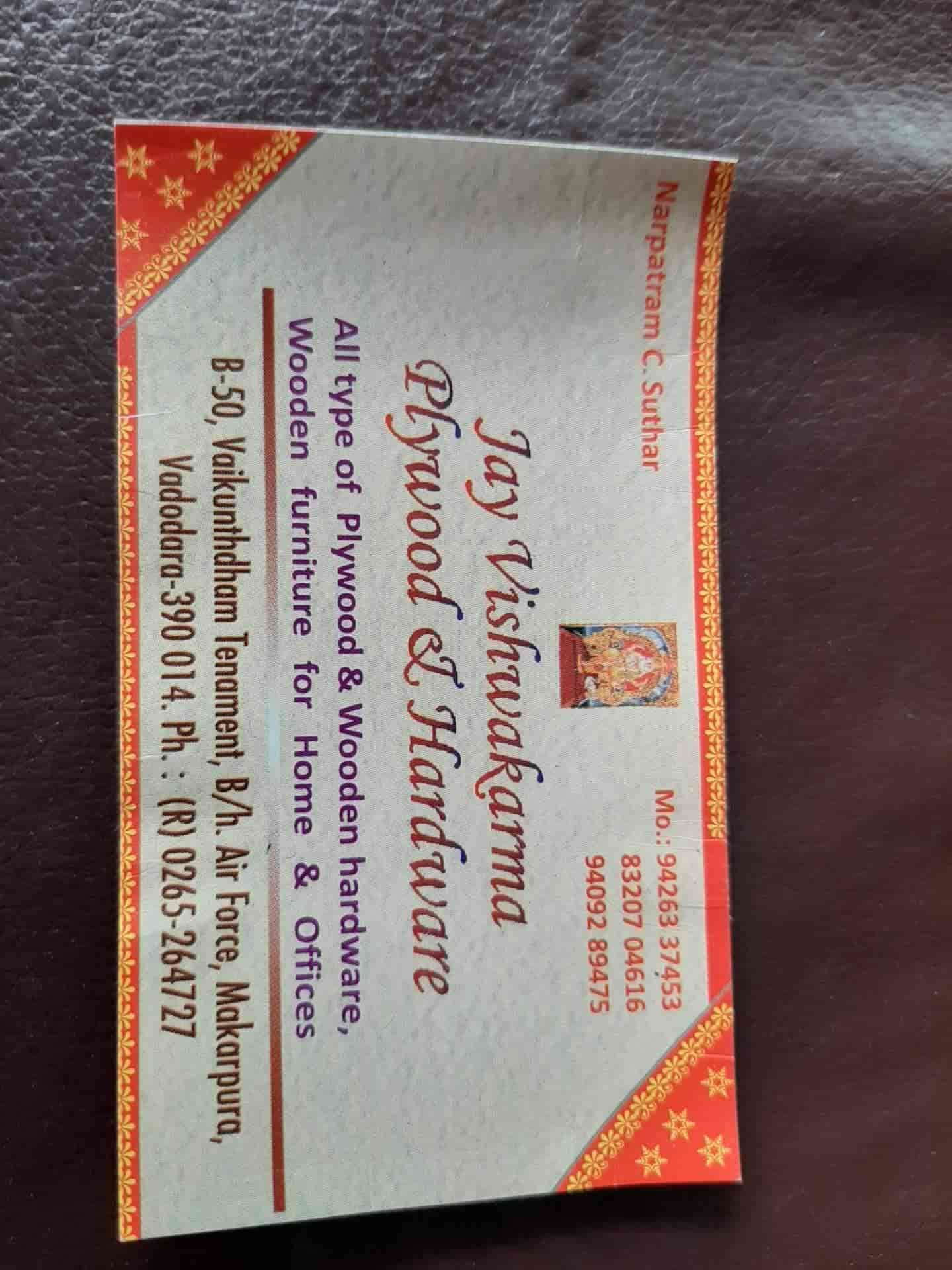 JAY Vishwakarma Wooden Furniture & Plywood, Makarpura