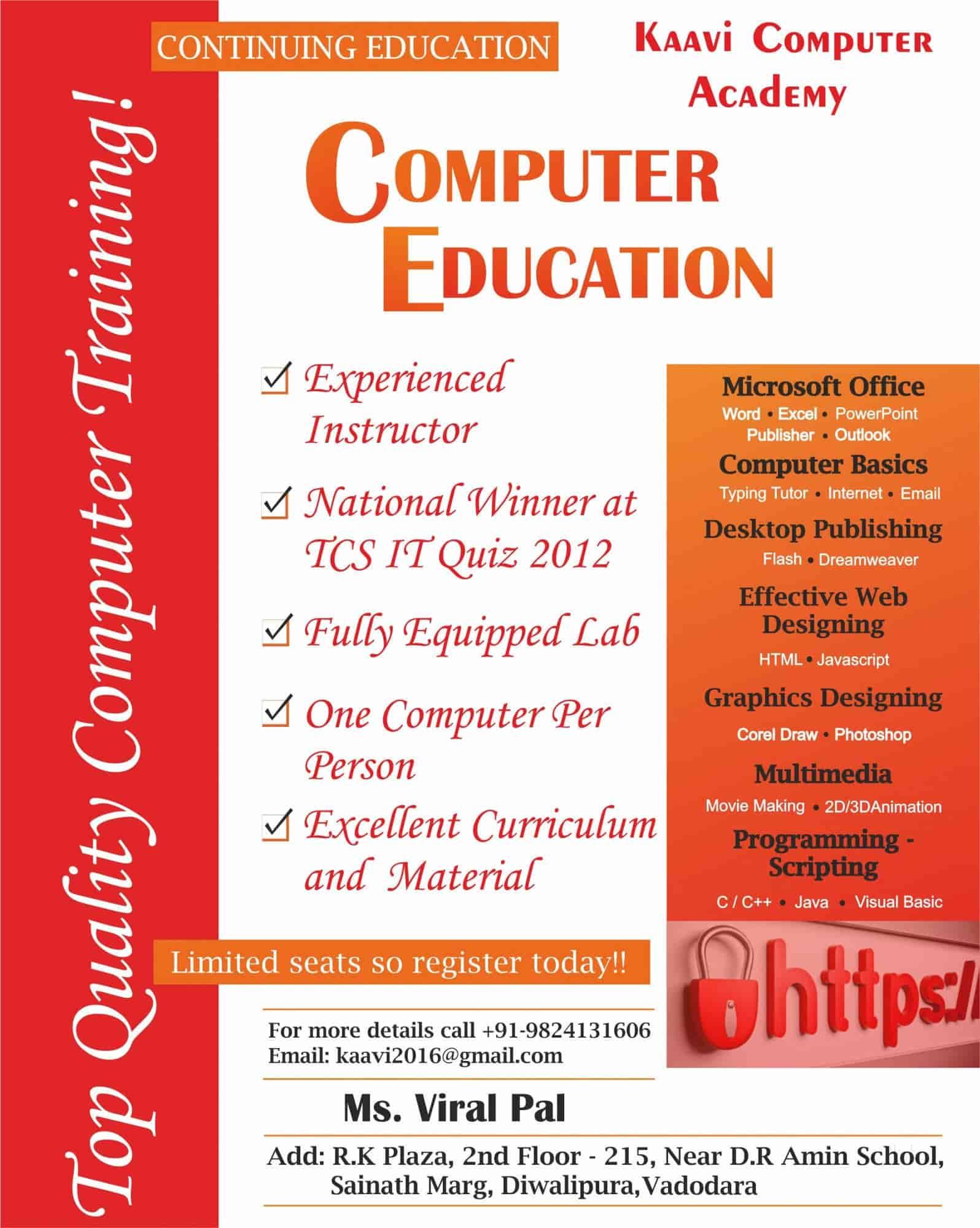 Kaavi Computer Academy, Diwalipura - Computer Training