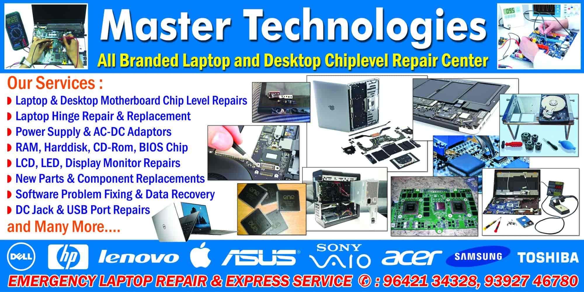 Master Technologies, Labbipet - Computer Chip Level Repair & Services in  Vijayawada - Justdial
