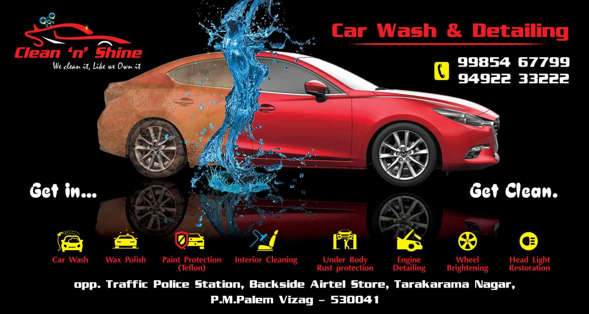 Clean N Shine Car Wash And Detailing Madhurawada Car Washing