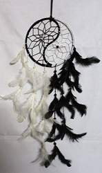 seawang Dream Catcher with feather wolf wall hanging decoration ornament bear