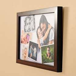 Brown by Haysoms Wood Effect Multi Photo Frame 4 x 6 White
