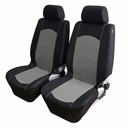 Sedeta Automotive Interior Car Vehicle Front Rear Seat covers protector Set Cushion Mat Silk Velvet Automotive Interior Decor for driver family chair cover Gray Car Seat Covers Accessories