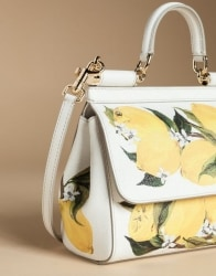 Dolce   Gabbana Small Sicily Bag In Printed Dauphine Leather White   BB6003AC5208Q883  f45df82dfd