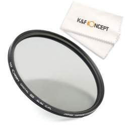 Multicoated Multithreaded Glass Filter Circular Polarizer for Canon EOS Rebel T3 58mm C-PL