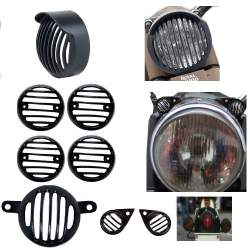 OEM Tail and Head Light Royal Enfield Grill Set Combo of Indicator Eyes