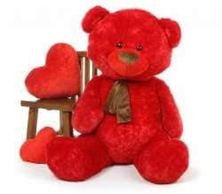Red Teddy Bear 5 Feet, Buy Red 5 Feet Big Teddy Bear With Muffler Features Price Reviews Online In India Justdial