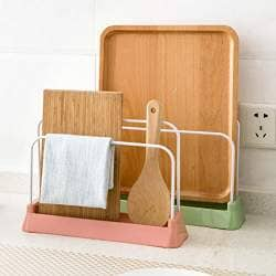 Apollo Bathroom Wooden Free Standing Towel Rail Rack Hanger Traditional Natural