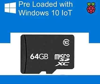 Buy 64 GB Micro SD card preloaded with Windows 10 IOT Core