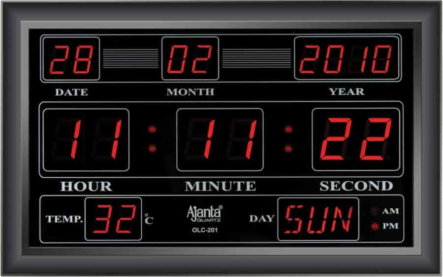 Buy Ajanta Digital LED Wall Clock OLC201 Features Price