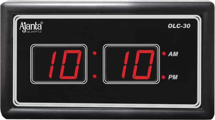 buy ajanta digital led wall clock olc30 features price