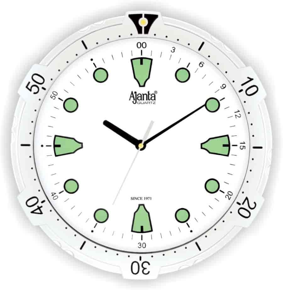 Buy ajanta wall clock aq 1057 ss features price reviews ajanta wall clock aq 1057 ss amipublicfo Images
