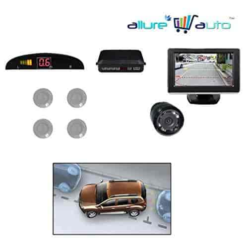 Buy Allure Auto Car Parking Sensors-Silver+4 3 Inch Screen