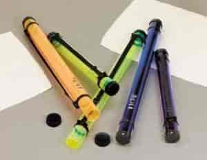 x 25 inches 2-3//4 inches I.D Alvin MT25-PR Ice Tubes Purple Storage and Transport Tube