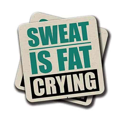 Buy Amey Sweat Is Fat Crying Gym Motivational Quotes MDF Coaster 60 X Mesmerizing Exide Motivational Quotes