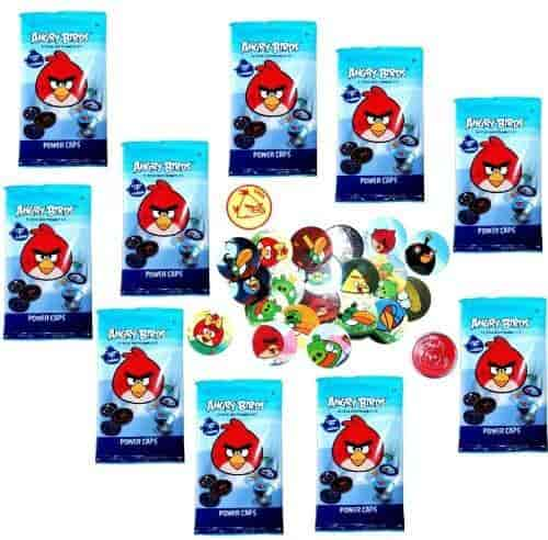 Buy Angry Birds Pogs Power Caps Tazos Game Booster Pack Lot