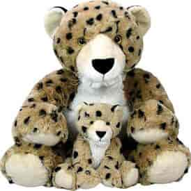 Buy Animal Planet Stuffed Toys Mommy With Baby Cheetah And Cub