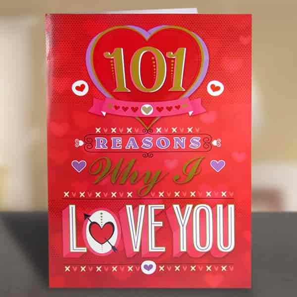 Buy archies 101 reasons why i love you jumbo card ilv01159 archies 101 reasons why i love you jumbo card ilv01159 m4hsunfo