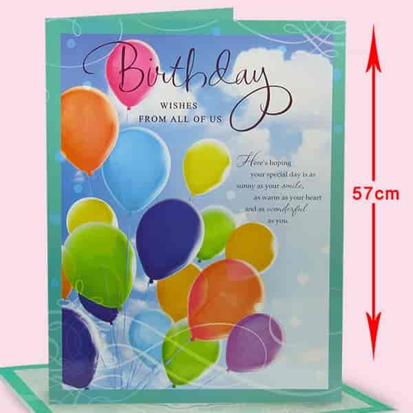 Buy archies birthday wishes for you jumbo card bau00198 features archies birthday wishes for you jumbo card bau00198 m4hsunfo