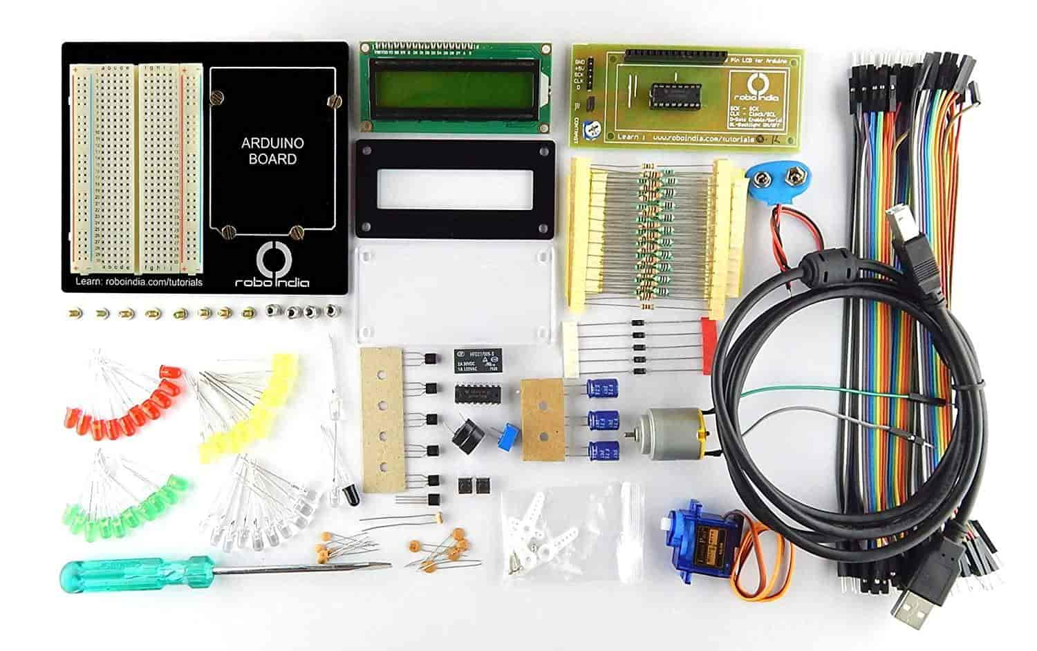 Robo-India-Arduino-starter-kit-Revision-2-for-beginners-(Builders-Kit-Revision-2)-without-Arduino-Board