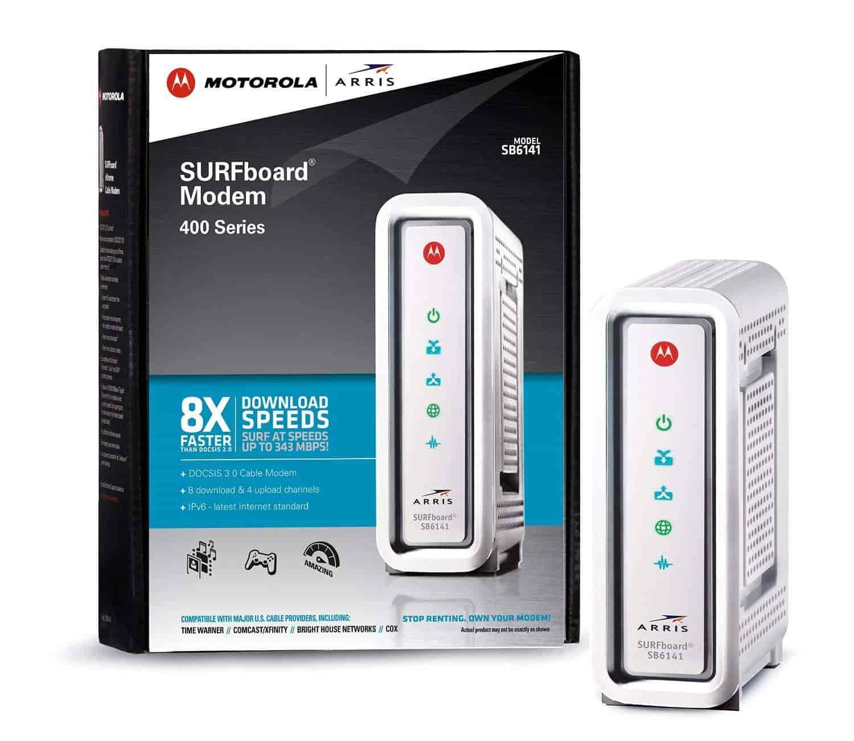 Arris Motorola Surfboard Sb6141 Docsis 3 0 Cable Modem Retail Packaging White