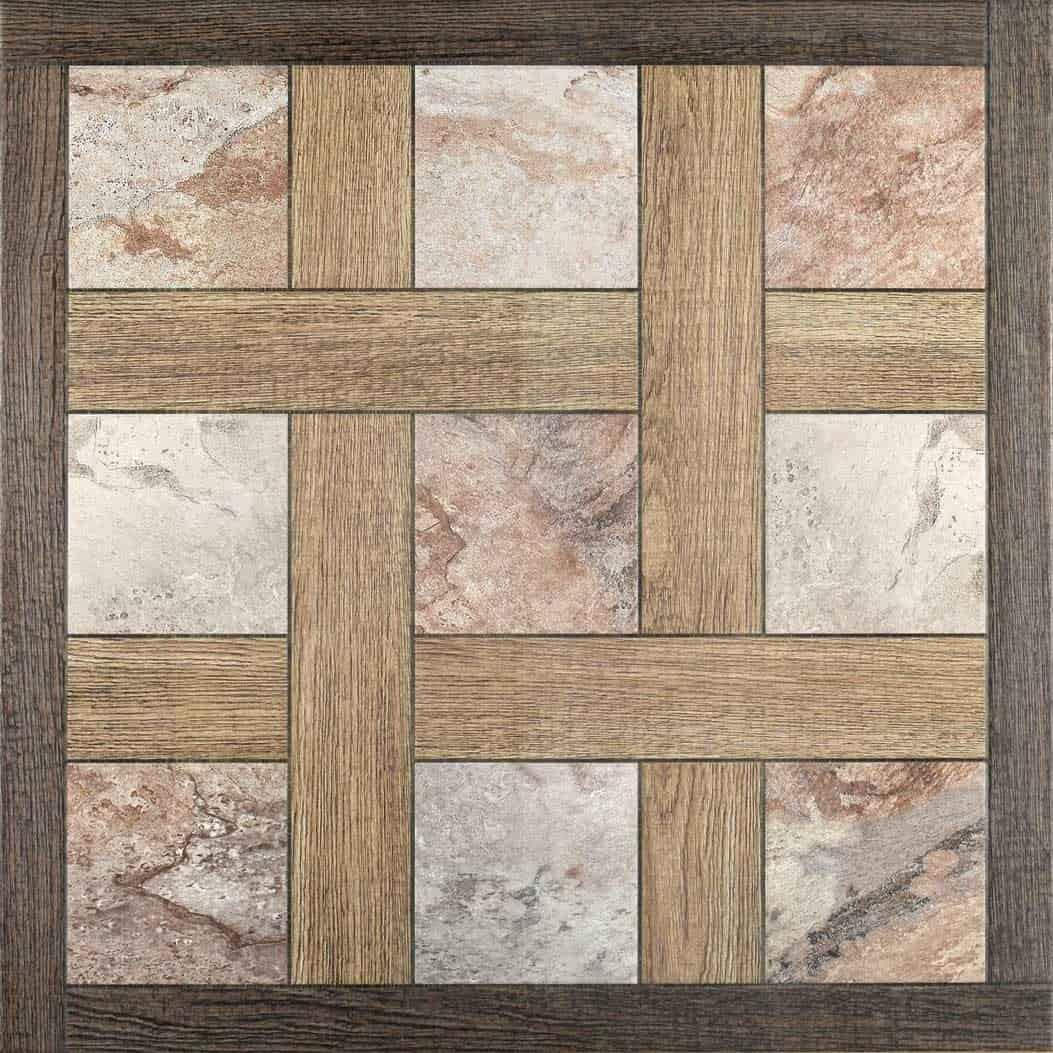 Asian Granito Wenge Grid Floor Tiles Por M13
