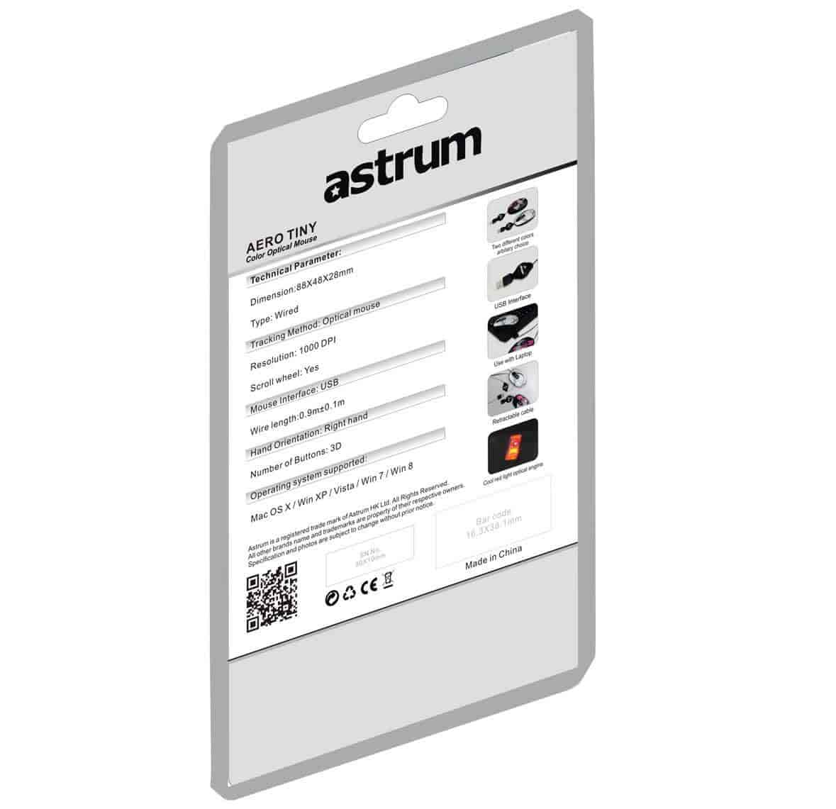 Buy Astrum Aero Tiny Gr Usb Retractable Notebook Mouse 800dpi Hd Optical 800 Dpi Lens