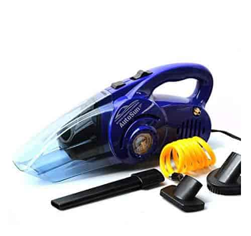 Autosun 2 In 1 Car Vacuum Cleaner With Air Compressor Tyre Inflator Set Of 2 Blue