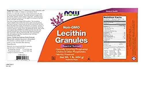 Citrucel Lecithin Granules Non Gmo Now