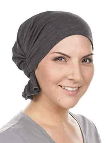 Abbey Cap ® Chemo Hat Cancer Beanie Scarf Cotton Light Denim